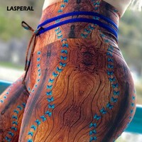 LASPERAL High Waist Butterfly Print Yoga Leggings Women Sports Pant Skinny Leggins Workout Trouser Compression Fitness Tights