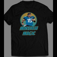 "JACKSONVILLE #15 GARDNER MINSHEW "" MINSHEW MAGIC"" FOOTBALL SHIRT"