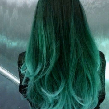 HAIR CHALK: Mint / Light Teal // Temporary Hair Color // Chalk Pastel Dye