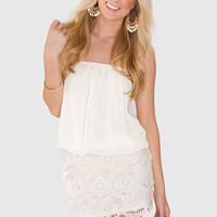 Such A Doll Lace Dress - Ivory