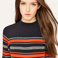 Urban Outfitters Striped Blue Placement Jumper - Urban Outfitters