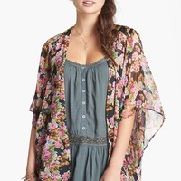Band of Gypsies Sheer Print Kimono (Juniors) (Online Only)   Nordstrom