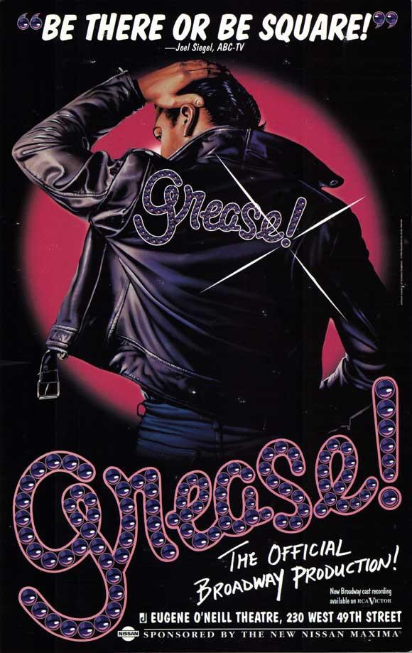 Image of Grease 27x40 Broadway Show Poster (1972)