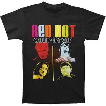 Red Hot Chili Peppers Men's  Color Me Peppers T-shirt Black