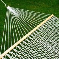 """Best Choice Products® Hammock 59"""" Cotton Double Wide Solid Wood Spreader Outdoor Patio Yard Hammock"""