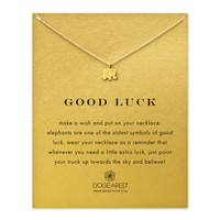 Dogeared, Good Luck Elephant Necklace, Gold Dipped 16 inch