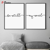 Hand Writting Be Still My Soul Love Quote Poster Canvas Print Wall Art Bedroom Decor Home Decorative Picture