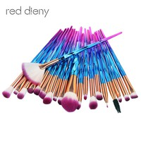 20pc Diamond Beauty Contour Makeup Brush Unicorn Synthetic Hair smooth Fan Foundation eyeshadow eyeliner makeup brush maquillage
