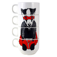Super Badger Stacking Coffee Cups