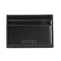 Dr. Koffer Leather Front-Pocket Wallet with Money Clip (Black)