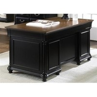 Liberty Furniture St. Ives Jr Executive Desk in Chocolate & Cherry Finish