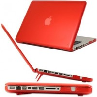 iPearl mCover Hard Shell Case with FREE keyboard cover for Model A1278 13-inch Regular display Aluminum Unibody MacBook Pro - RED