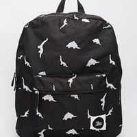 THEWHITEPEPPER Dinosaur Embroidered Backpack