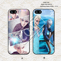 Disney Frozen and jack frost iPhone 5 Case, iPhone 4 Case, iPhone 5C Case, iPhone 5S Case, Samsung Galaxy S3/S4 Case iPhone Case - 5F0124