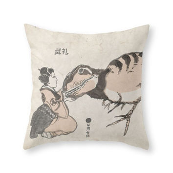 Society6 Geisha Baby T Re Throw Pillow