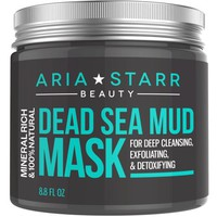 Aria Starr Dead Sea Mud Mask For Face, Acne, Oily Skin & Blackheads - Best Facial Pore Minimizer, Reducer & Pores Cleanser Treatment - 100% Natural For Younger Looking Skin 8.8oz - Walmart.com