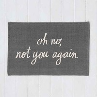 Plum & Bow Oh No Printed Mat- Grey 2X3