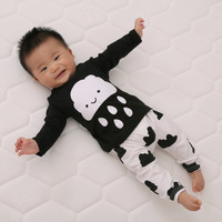 2016 New cute kids clothes girl/boys baby longsleeve cotton T-shirt+Pants suits newborn baby children suits fit 0~2 years