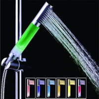 New 4 LED Light 7 Colors Gradual Change Bathroom Water Shower Head Mixer Faucet Tap Vovotrade Hot Sale Free Shiping