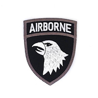 Airborne Badge Iron on Patch Size 6.4 x 8.2 cm