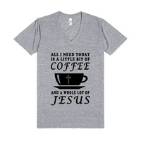 coffee jesus vneck