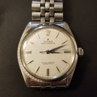 Vintage 1940's Rolex Oyster Perpetual Watch 378750 original stainless steel band