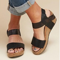 Summer Women Sandals Platform Wedges High Heels Shoes