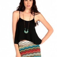Olivaceous Cropped Tank Cami
