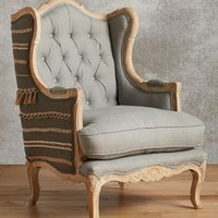 Andorry Wingback Chair by Anthropologie Grey Motif Chair Furniture