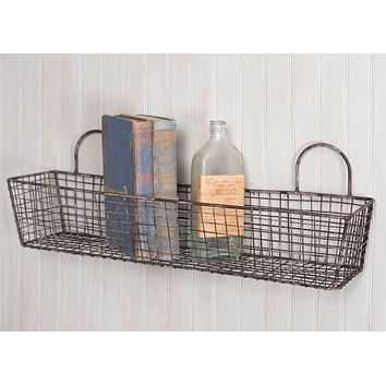 French Bakery Wide Mesh Wall Basket