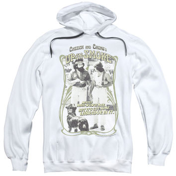 CHEECH & CHONG/LABRADOR-ADULT PULL-OVER HOODIE-WHITE