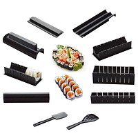 New Creative 10 Pieces High Quality DIY Roll Sushi Maker Rice Mold Kitchen Household Sushi Making Tool Set