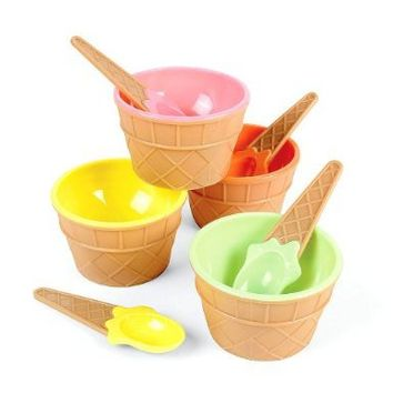 Plastic Ice Cream Dishes (1 dz)