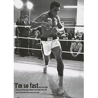 Muhammad Ali So Fast Quote Poster 25x35