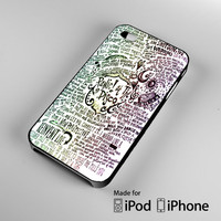 Panic At The Disco Lyric Handmade Custom case for iPhone/ iPod and Samsung Galaxy Cases