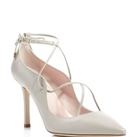 kate spade new yorkPriscilla Lace Up Pointed Toe Pumps