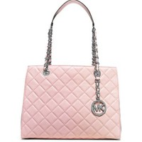 Susannah Medium Quilted-Leather Tote   Michael Kors