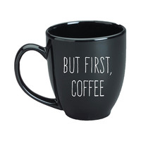 But First, Coffee Black Mug