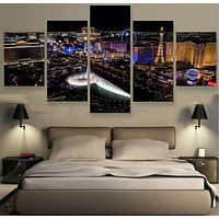 No Frame 5 Pieces Modern wall art canvas printed painting Wall Pictures For living room Modern City Painting