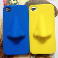 3D Cool Nose Soft Cover Case For Iphone 4/4s