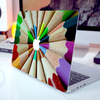 """Rainbow Pencil Laptop Sticker Full Cover Skin for MacBook Air/Pro/Retina Dell HP Lenovo Sony Samsung Acer 11"""" 12"""" 13"""" 15"""" Decal"""