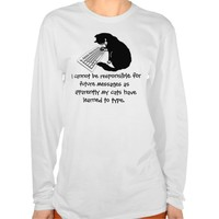 Funny Cat Typing Shirt