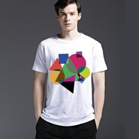Summer Casual Cotton Strong Character Men's Fashion Fashion Short Sleeve Stylish Tee T-shirts = 6450991555