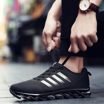 Top quality Male Running Shoes Trail Tennis Rubber Sole Size 46 Black Breathable Non-slip Lifestyle New Design Men Sport shoes