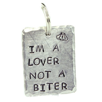 I'm a Lover Dog Tag
