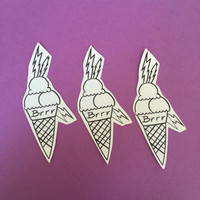Gucci Mane Ice Cream Cone Tattoo sticker set
