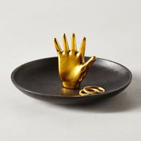 Catch-All Trinket Dish by Anthropologie Bronze Trinket Dish House & Home