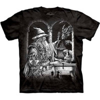 WIZARD AND DRAGON Castle The Mountain Fantasy Art T-Shirt S-3XL NEW