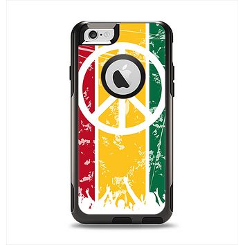 The Red, Yellow & Green Layered Peace Apple iPhone 6 Otterbox Commuter Case Skin Set