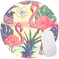 Flamingos and Pineapples Mouse Pad Decal